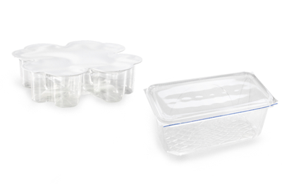 Cups and blister packs, sealed using ultrasonics
