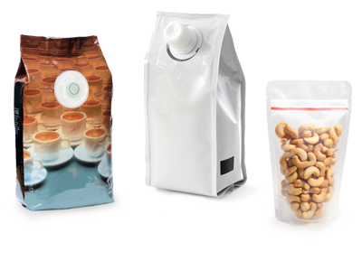 Aroma vents for coffee packaging, spouts, and re-sealable packaging