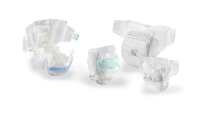Examples for baby diapers with tapes and potty training diapers