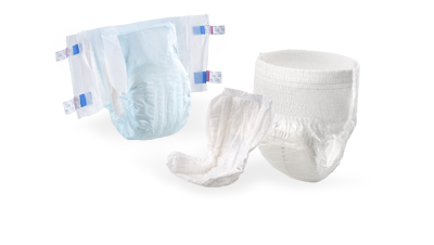 Diapers and incontinence products for adults
